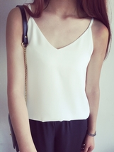 White Sleeveless Chiffon Top Summer Chiffon Tank Wedding Bridesmaid Tops US0-16