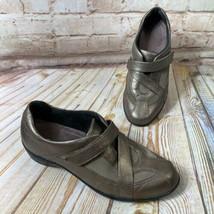 Clarks Tous les Jours Showstopper Taille 8 M Bronze Mocassins Cuir Confort Shoes - $24.93