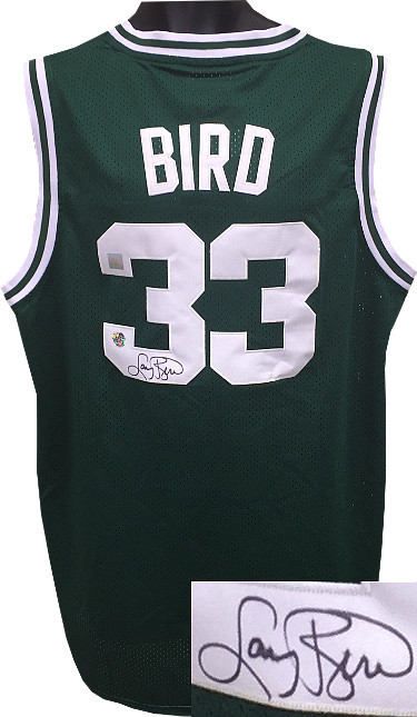 Larry Bird signed Boston Celtics Green Adidas TB Hardwood Classics Jersey XL +2