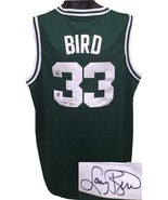 Larry Bird signed Boston Celtics Green Adidas TB Hardwood Classics Jerse... - £214.45 GBP