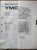 Yamaha YMC 2 Midi Converter Original Service Manual and Schematics Sheet - $4.94