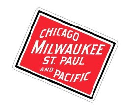Chicago Milwaukee Railroad Sticker R7103 Railroad Railway Train Sign  - $1.45+