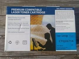 HP Color LaserJet Q2671A Compatible Cyan Toner Cartridge NIB 3500/3500n/... - $14.80