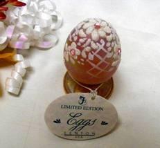 1477 Vintage Fenton Pink Rhinestones on Champagne Pedestal Egg - $49.00
