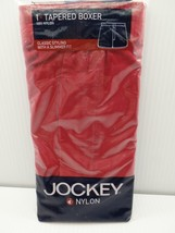 Jockey Tapered Boxer 100% Nylon Underwear Red Solid X-Large 40-42 Classi... - $39.99