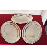 "BEARD Marina Switzerland - Silver Serving Platters - 3pcs Oval 15"" Platters - $135.00"