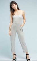 NEW ANTHROPOLOGIE Claudette Sequined Silver Jumpsuit Size 4, 8, 12, $178 - $69.99