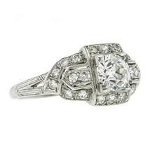 Antique Round Vintage Wedding White Stone Diamond Ring Mother's Day Spec... - $108.90