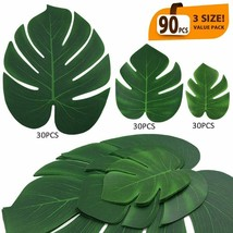 Artificial Palm Leaves Tropical Party Decor Luau Birthday Jungle Monster... - $26.11