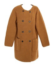 J Crew Women's Collection Bonded-knit Sweater Coat Brown Sz L F5370 - $147.19