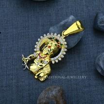 Laddu Gopal Krishna Man Exclusive 916 Fancy Gold Pendant, Mens Gift CZ P... - $3,167.01