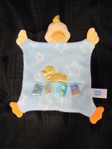"Taggies Mary Meyer Sleeping Duck Blankie Lovey Blanket Fleece Stars 10"" Tall - $15.04"
