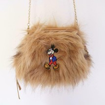 Disney Acomode Mickey Mouse Fur Chain Shoulder Bag Pochette - $64.35