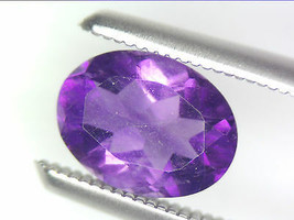 1.07 CT NATURAL AMETHYST LOOSE GEMSTONES PURPLE OVAL FACETED CUT 6.07 X ... - $16.56