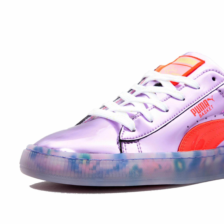 Puma Women's Basket Candy Princess Sneakers Metallic Pink/Fiery Coral 366134-01