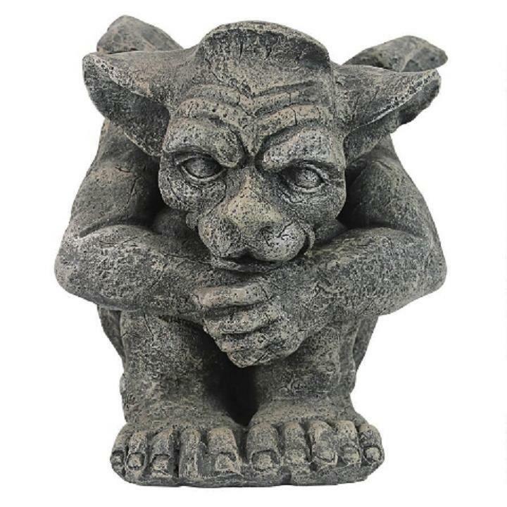 Gothic Protector Gargoyle Sculpture Medieval Guardian Home Garden Lawn Statue