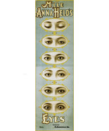 M'lle Anna Held's Eyes 1898 Theatre Advertising Poster Unique Print promo repro - £9.35 GBP