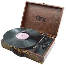 QFX TURN-105 Portable Retro USB Bluetooth Suitcase Turntable Record Play... - £60.17 GBP