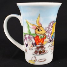 Alice in Wonderland Coffee Mug Cup 12 oz White Mad Hatter Tea Party Paul... - $15.99