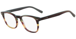 NEW LACOSTE L2832 318 Striped Green, Burgundy & Honey Eyeglasses 50mm with Case - $89.05