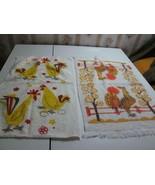 Vintage Retro Startex Wonder Dri Rooster Chicken Kitchen Towel USA 2 Lot - $26.00