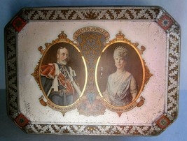 King George V & Queen Mary 1935 Silver Jubilee Commemorative Tin - $65.00
