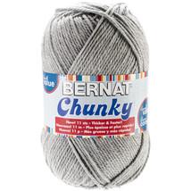 Bernat Chunky Big Ball Yarn  Solids Grey Heather - $18.14