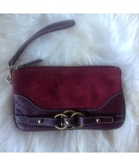 Wilson's Leather Burgundy Wine Wristlet Clutch Bag  - $16.00