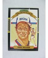 Greg Walker Arizona Diamondbacks 1986 Donruss Leaf Baseball Card Number 25 - $0.98