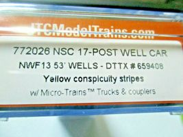 Jacksonville Terminal Company # 772026 TTXl NSC 17-Post Well Car # 659408 (N) image 4