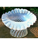 """Vintage Fenton French Opalescent Hat Vase Spiral Optic 4.5""""H - $50.00"""