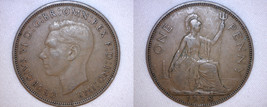 1938 One Penny World Coin - Great Britain - UK - England - $3.99