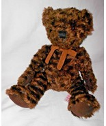 FAO Schwarz Dark Brown Teddy Bear Plush Stuffed Animal Corduroy Paws Sue... - $19.78