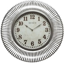 Home Decor Munich Wall Clock 35 in. x 35 in. Analog Glass Face Metal Frame - $262.71