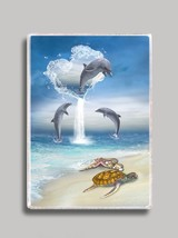The Heart of the Dolphin Refrigerator Magnet - $14.34