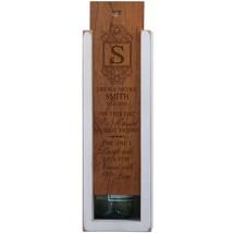 Wedding Anniversary Wooden Wine Box Single Slot Personalized - $99.99