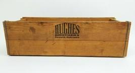 Vintage HUGHES BROTHERS Seward Nebraska Wood Shipping Box Crate Man Cave... - $49.49