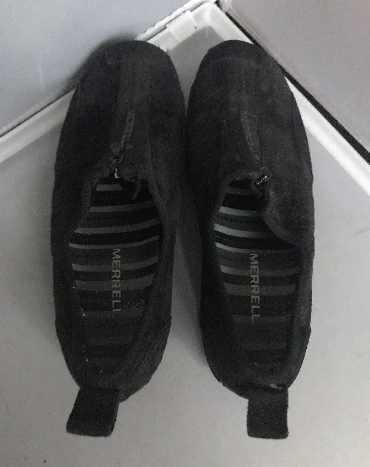 Merrells Barrado Leather Black Suede Zip ups Size 7.5