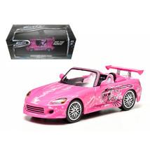 Sukis 2001 Honda S2000 Pink 2 Fast and 2 Furious Movie (2003) 1/43 Dieca... - $28.71