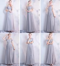 BLUSH Chiffon Bridesmaid Dresses Blush Pink Spaghetti Cap Sleeve Maxi Prom Dress image 10