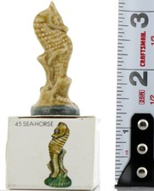 No.45 Seahorse Miniature Porcelain Figurine Picture Box Whimsies by Wade image 2