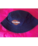 Navy Harley Davidson Mens Bucket Hat Fish Hike Biking Boating Outdoor Ri... - $14.99