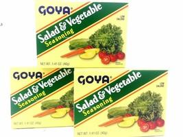 GOYA SALAD & VEGETABLE SEASONING 1.41 OZ 3 PACK - $9.49