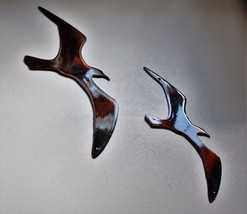 Two Birds Flying    Metal Wall Art Accents copper/bronze - $9.89
