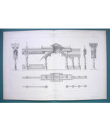 ARCHITECTURE 2 PRINTS 1869 - RUSSIA Architecture at Paris 1867 Paris Exp... - $16.20