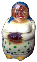 1940s National Silver Company Mammy Cookie Jar with Original Cold Paint - $199.99