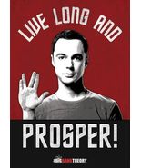 Big Bang Theory  Live Long and Prosper!   2.5 x 3.5 Fridge Magnet - $3.99