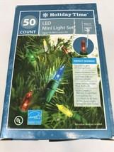 Led Christmas Lights 50 LED Mini String Set Multi Indoor Outdoor Tree 4 ... - $24.74