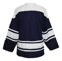 Custom Name # Team Holland Hockey Jersey New Navy Blue Any Size image 2