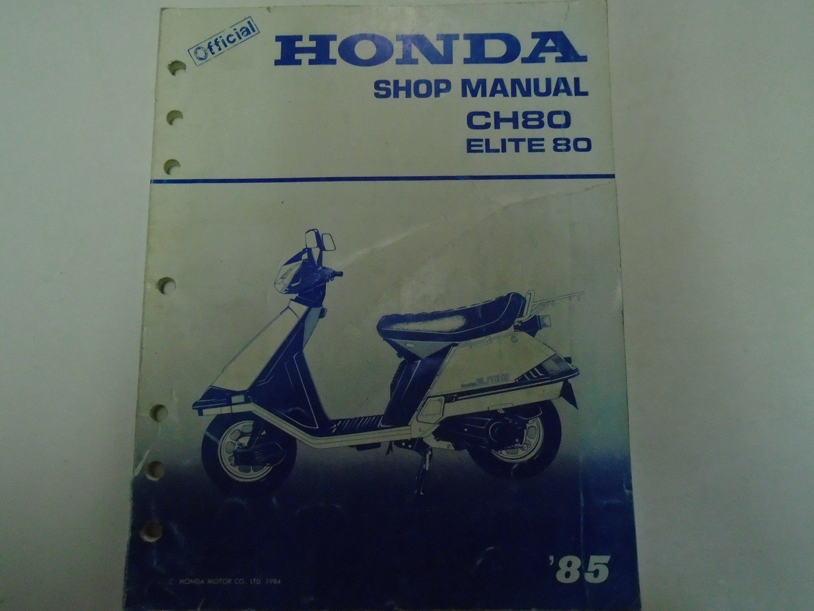 1985 Honda CH80 Elite 80 Service Repair Shop Manual FACTORY OEM BOOK Used  ***